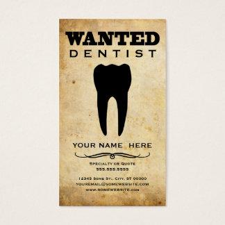 querido: dentista cartão de visitas