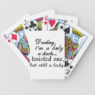 querido eu sou uma senhora um torcida a escura baralhos para poker