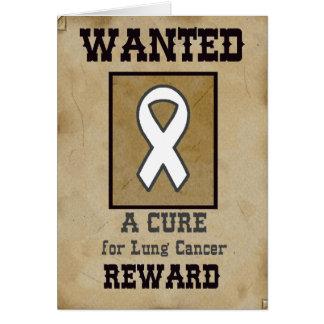 Querido: Uma cura para o câncer pulmonar Cartão Comemorativo