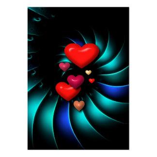 Queridos românticos romances do remoinho cartão de visita grande