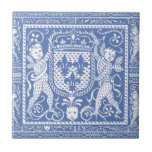 Querubins azuis e brancos do renascimento medieval azulejo
