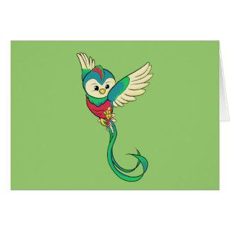Quetzal colorido! cartão comemorativo
