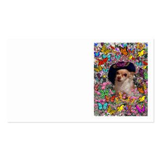 Qui nas borboletas - filhote de cachorro do qui da cartão de visita