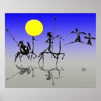 Quijote y Sanchopanza de Don (cor de Digitas) Pôster
