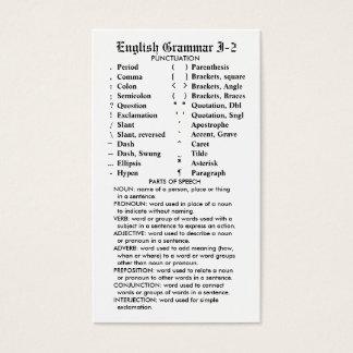 Quik-Referência bolso/carteira da gramática Cartão De Visitas