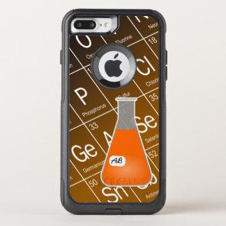 Química alaranjada da garrafa de Erlenmeyer (com Capa iPhone 7 Plus Commuter OtterBox