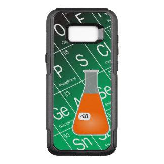 Química alaranjada da garrafa de Erlenmeyer (com Capa OtterBox Commuter Para Samsung Galaxy S8+