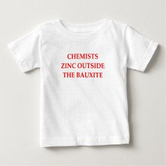 química camiseta para bebê