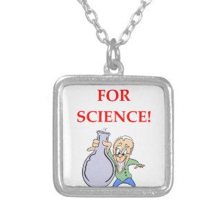 química colar banhado a prata