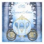 Quinceanera da princesa Carruagem Enchanted azul