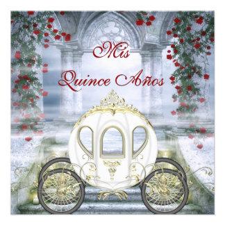 Quinceanera da princesa Carruagem Enchanted branca