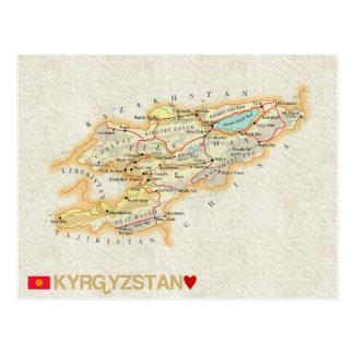 ♥ Quirguistão dos CARTÃO do MAPA