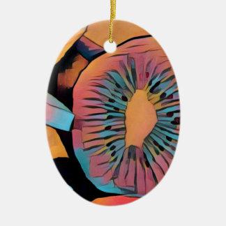 Quivi Ornamento De Cerâmica Oval
