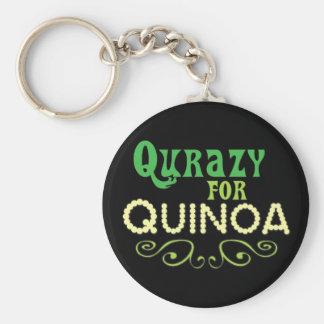 Qurazy para o © do Quinoa - slogan engraçado do Chaveiro