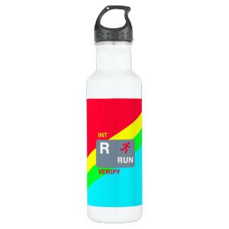 R é para a garrafa de água funcionada