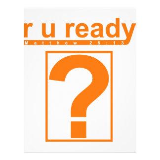 R U pronto? Panfletos Personalizados