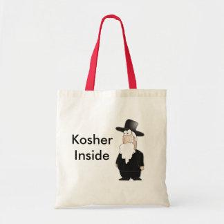 Rabino judaico engraçado - desenhos animados legal sacola tote budget