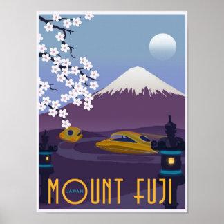 Raça a Monte Fuji em seu carro do vôo! Poster