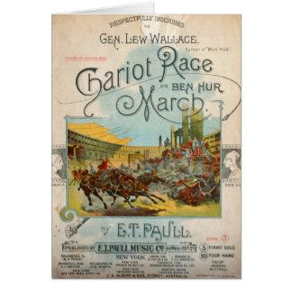Raça de Chariot março Cartão De Nota