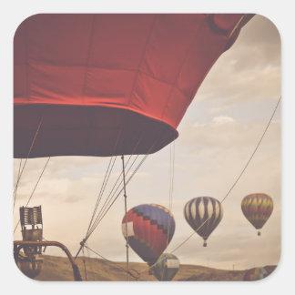 Raça do balão de ar quente de Reno Adesivo Quadrado