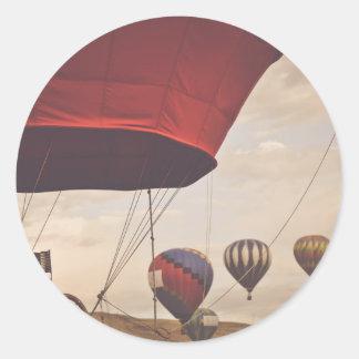 Raça do balão de ar quente de Reno Adesivo Redondo