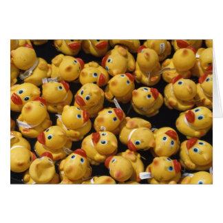 Raça ducky de borracha - cartão