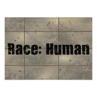 Raça: Humano Convite 12.7 X 17.78cm