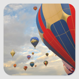 Raças do balão de ar quente de Nevada Adesivo Quadrado