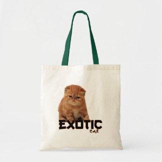 raças exóticas do gato sacola tote budget