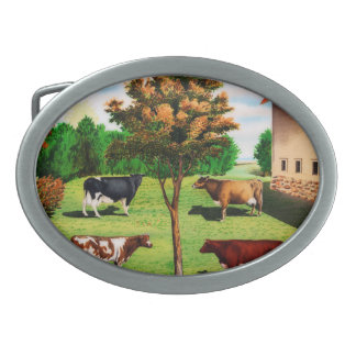 Raças típicas da vaca do vintage na fazenda