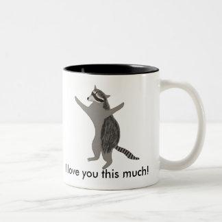 raccoon. da caneca do guaxinim do Dois-tom
