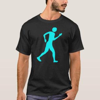 Racewalking - ciano camiseta