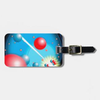 Rachando o átomo etiqueta de bagagem