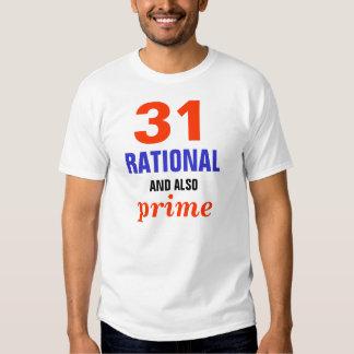 Racional e principal t-shirts