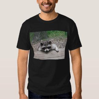 Racoon na camisa do patamar tshirt