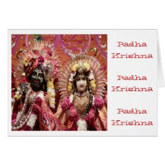 Radha KRISHNA para o amor, prosperidade da paz n Cartão Comemorativo