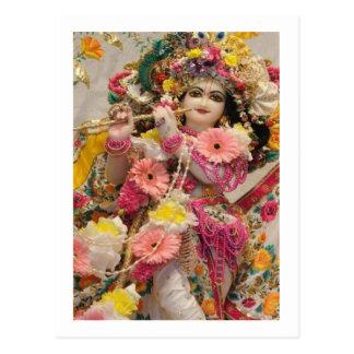 Radha KRISHNA para o amor, prosperidade da paz n Cartão Postal