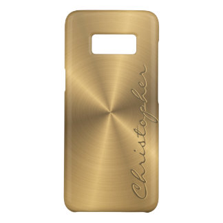 Radial metálico personalizado do ouro de aço capa Case-Mate samsung galaxy s8
