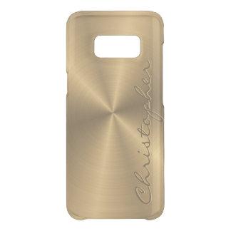 Radial metálico personalizado do ouro de aço capa para samsung galaxy s8 da uncommon