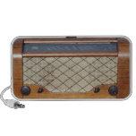 Rádio 1 do vintage caixinhas de som para laptop
