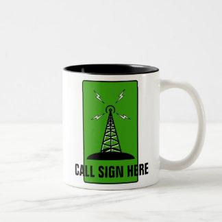 Rádio amador caneca personalizada do sinal de