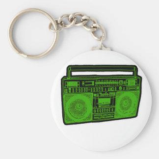 rádio do dinamitador do gueto do boombox chaveiro