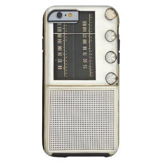 Rádio do metal do vintage capa tough para iPhone 6