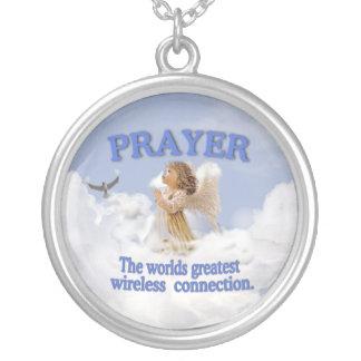 Rádio dos mundos da oração o grande conecta #2 colar banhado a prata