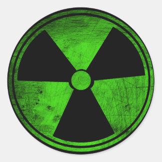 Radioativo Adesivos Em Formato Redondos