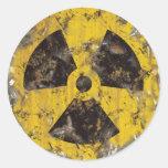 Radioativo oxidado adesivo em formato redondo