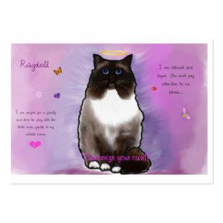 Ragdoll bonito doce cartão de visita grande