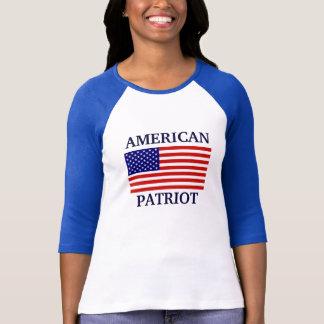Raglan americano das senhoras da bandeira do camiseta