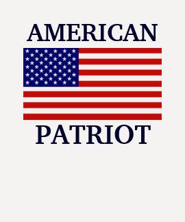 Raglan americano das senhoras da bandeira do patri tshirt