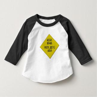 Raglan da criança da bisbolhetice não t-shirt